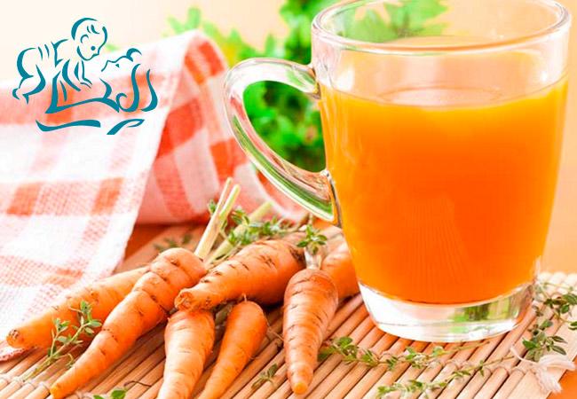 Сок из моркови для кормящей мамы
